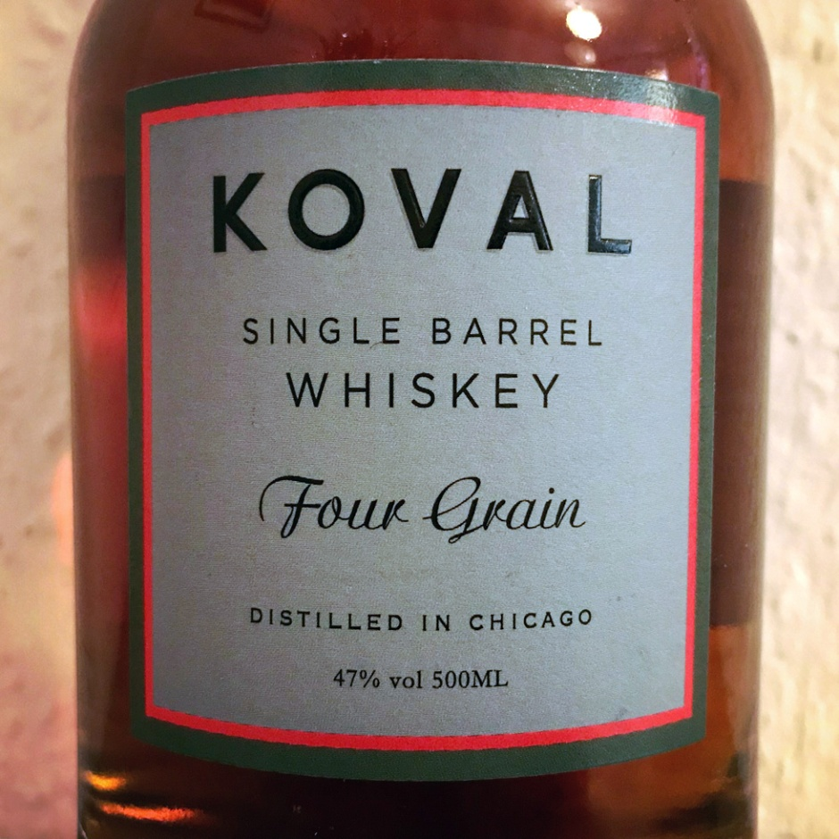 Koval Four Grain Whiskey (Chicago Craft Spirit Bourbon Distillery Tasting Notes)