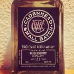 Tobermory 21yo by Cadenhead's (Small Batch Single Malt Scotch Whisky Bourbon Cask BarleyMania)