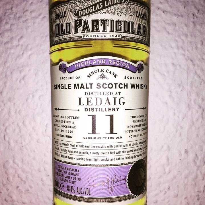 Ledaig 11yo by Old Particular (Single Cask Peated Malt Scotch Whisky Douglas Laing Tobermory Isle Of Mull BarleyMania)