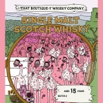 Emily Chappell (That Boutique-y Whisky Company Single Cask Malt Scotch Whisky Label Illustration Comic Graphic Novel BarleyMania)