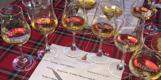 Whisky Experience - Irish Whiskey Tasting (West Cork Hyde Redbreast The Quiet Man Teeling Dram Tasting Event)