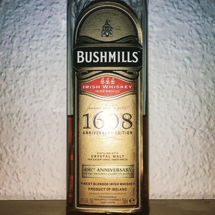 Bushmills 1608 Anniversary Edition (Blended Irish Crystal Malt Grain Whiskey Dram Tasting Notes BarleyMania)