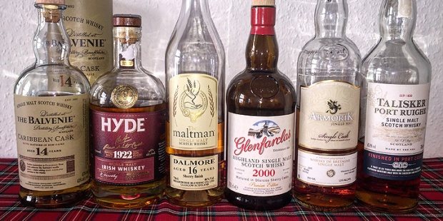 Whisky Experience Tasting (Cask Types Finishes Scotch Single Malt Dram BarleyMania)