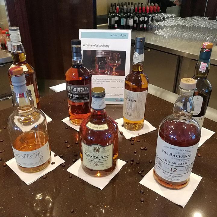 Baltic Sea Cruise Whisky Tasting (Mein Schiff 3 Tui Single Malt Scotch Auchentoshan Lagavulin Balvenie)
