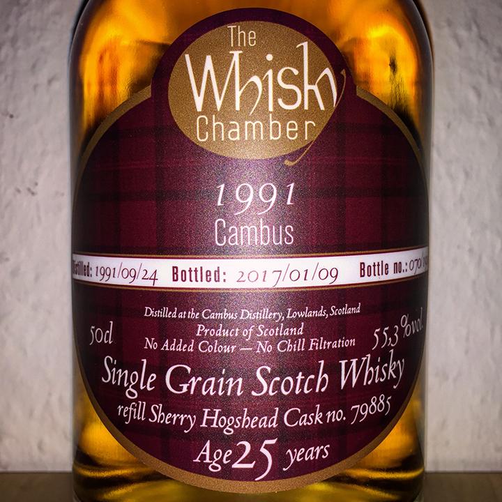 Cambus 25yo by The Whisky Chamber (Single Cask Grain Scotch Whisky Sherry Tasting Notes BarleyMania)