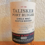 Talisker Port Ruighe (Single Malt Scotch Whisky Isle Of Skye Diageo Tasting Notes)