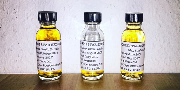 3 Single Cask Whiskies by Norht Star (Glenallachie Islay Malt British series 002 Tasting Notes)
