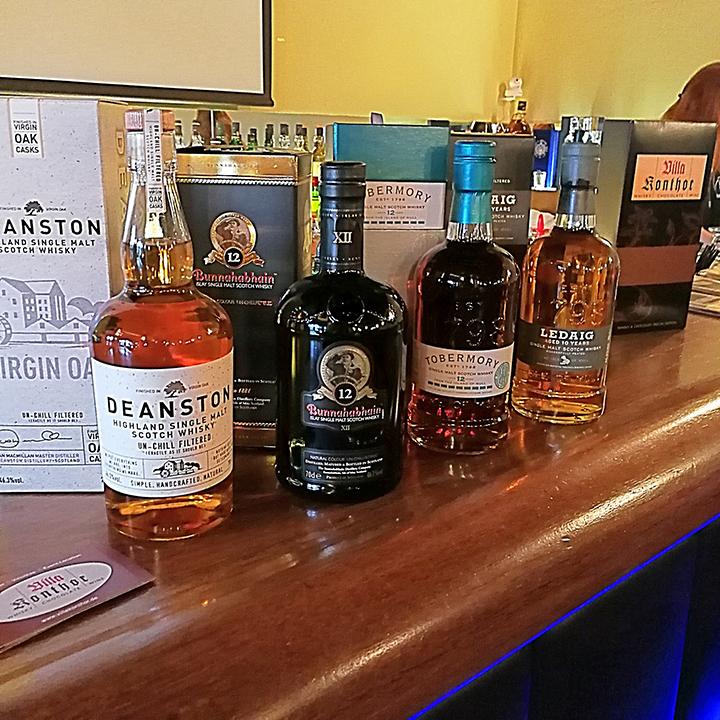 Whisky and Chocolate Pairing with Villa Konthor at Köpenicker Whiskyfest (Single Malt Scotch Dram Food Deanston Bunnahabhain Tobermory Ledaig)