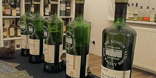 "SMWS ""All Things Peaty"" Tasting (Hansemalt Scotch Malt Whisky Society Ardbeg Bunnahabhain Ardmore Bowmore Highland Park)"