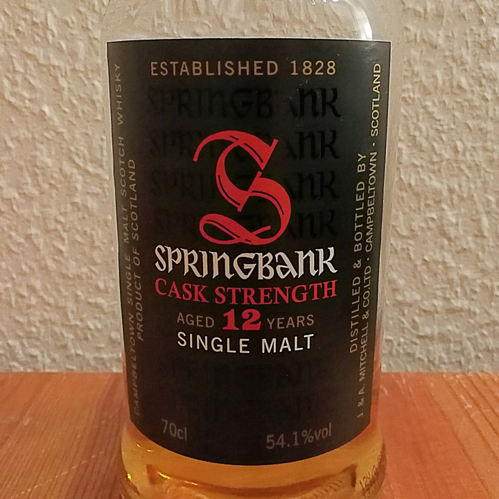 Springbank 12 Cask Strength (Campbeltown Scotch Single Malt Whisky Review Tasting Notes)