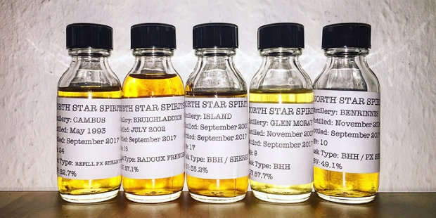 North Star Spirits - Series 003 (Single Malt Grain Scotch Whisky Islay Bruichladdich Orkney Glen Moray Benrinnes Cambus)