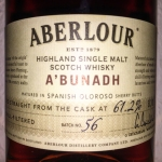 Aberour A'bunadh Batch 56 (Single Malt Speyside Scotch Whisky Cask Strength Oloroso Sherry Butt)