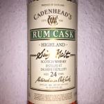 Dalmore 24yo Rum Finish by Cadenhead's (Highlands Single Malt Scotch Whisky Cask Strength)