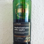 "Laphroaig 27yo ""29.234 Smoked and salted toffee apples"" by The Scotch Malt Whisky Society (Single Cask Islay Peated Dram Vaults)"