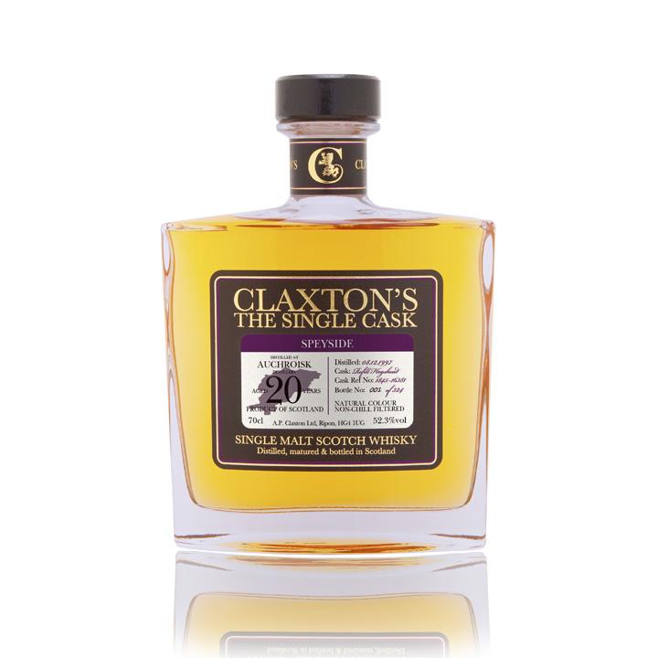 4 Single Cask Whisky Bottlings by Claxton's (Malt Scotch Independent Arran Auchroisk Miltonduff Glenturret)