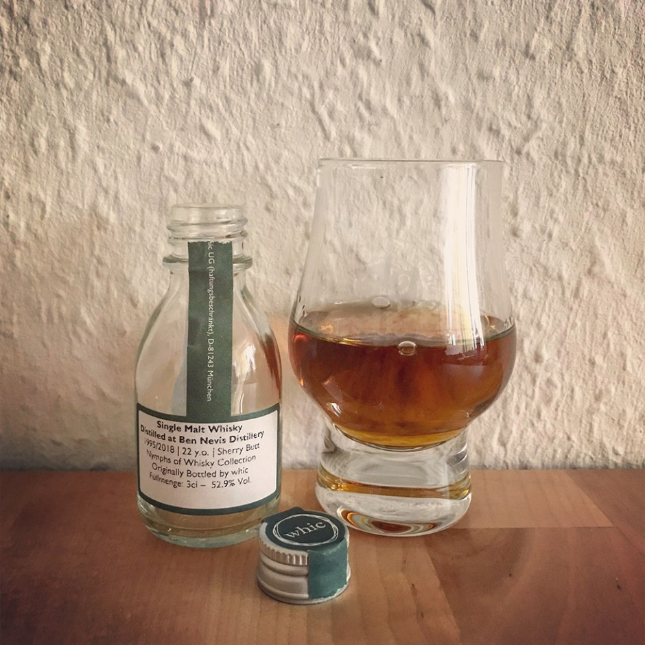 Ben Nevis 22yo Sherry Butt by Whic.de (Nymphs of Whisky Single Malt Highlands Scotch Tasting Notes)