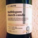 Balmenach 9yo Bubblegum Church Candle by The SMWS (Single Malt Speyside Scotch Society Tasting Notes)