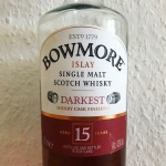 Bowmore 15yo Darkest (Islay Single Malt Scotch Whisky Peat Sherry Beam Suntory BarleyMania)