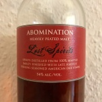 Abomination by Lost Spirits (Peated Single Malt Scotch Whisky Islay USA Riesling Reactor Experiment)