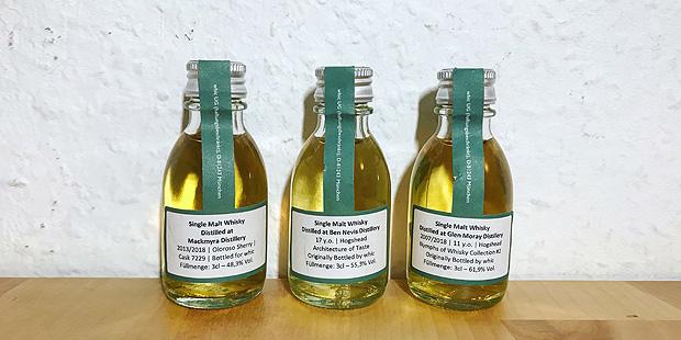 3x Single Cask Scotch Whisky by Which (Mackmyra Ben Nevis Glen Moray Speyside Malt Dram Tasting Notes)