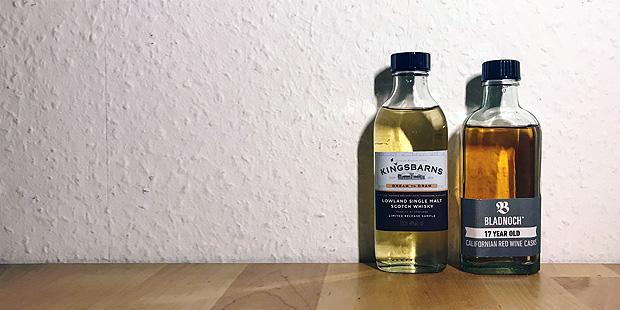 2x Lowlands Single Malt Scotch Whisky by Kingsbarns and Bladnoch (Vibrant Stills Scotland Dram Tasting Notes BarleyMania)
