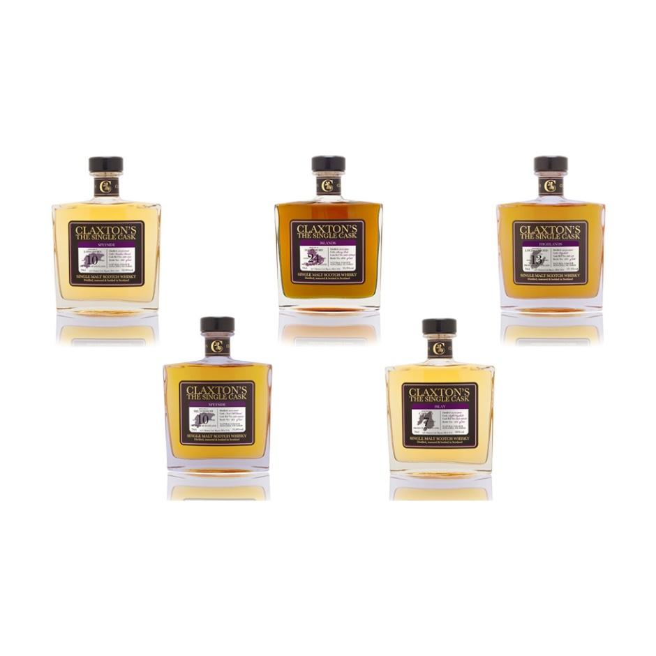 5x Single Cask Whisky from Claxton's (Scotch Malt Dram Longmorn Miltonduff Tobermory Loch Lomond Caol Ila Speyside Islay Notes)