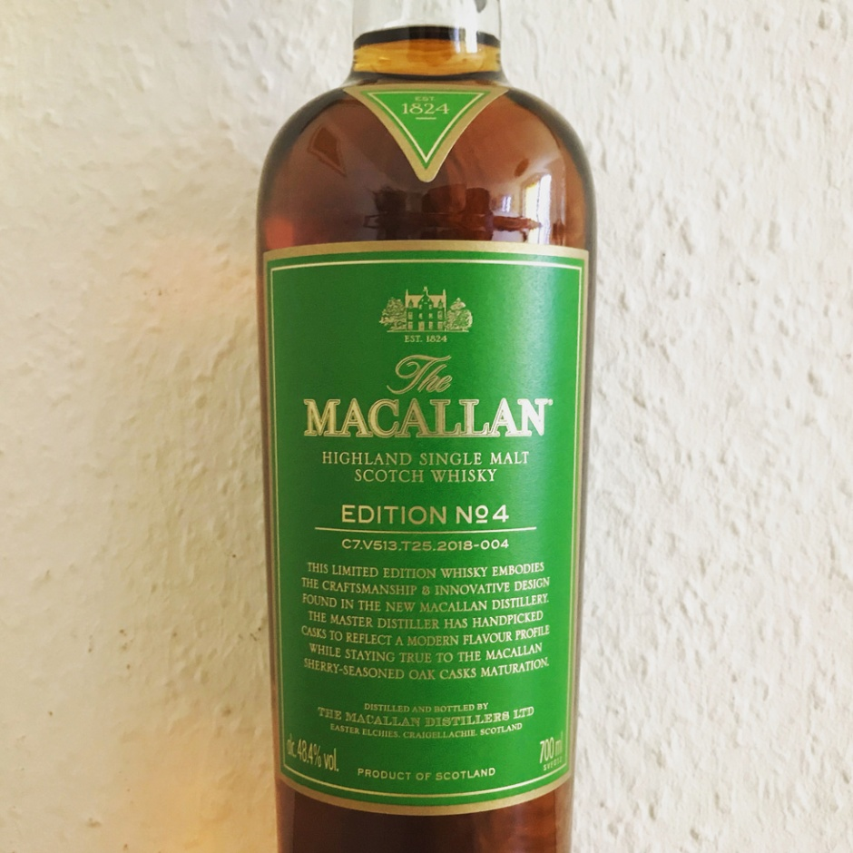 The Macallan Edition 4 from Speyside (Sherry Cask Single Malt Scotch Whisky Limited Edition Dram Bottle Scotland Tasting Notes)