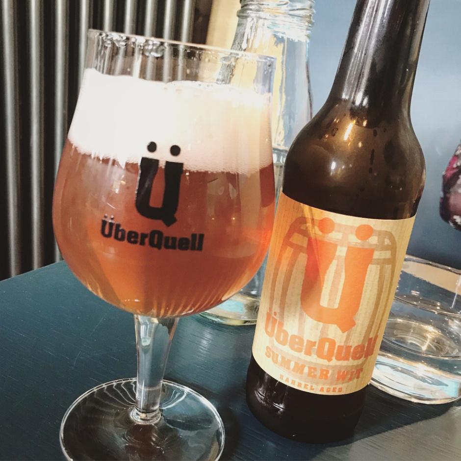 ÜberQuell Summer Wit Barrel Aged from Bulleit Bourbon Cask (Craft Beer Hamburg St. Pauli Interview Boilermaker)