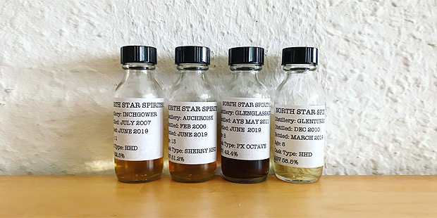 4x Single Malt Scotch Whisky by North Star Spirits (Indepdendent Bottler Auchroisk Inchgower Glenglassaugh Glenturret Tasting Notes)