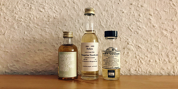 3x Scandinavian Single Malt Whisky by Mackmyra, Myken and Fary Lochan (Sweden Norway Denmark Tasting Notes BarleyMania)