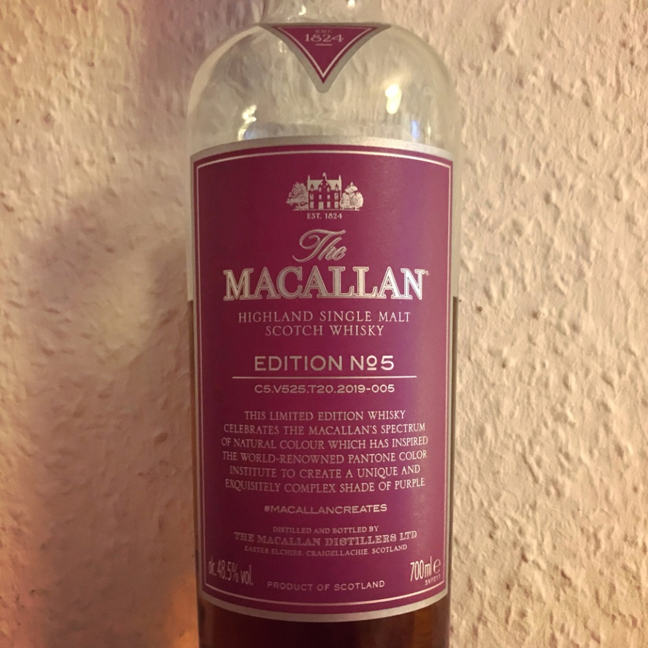 The Macallan Edition No 5 (Single Malt Speyside Scotch Whisky Tasting Notes BarleyMania)