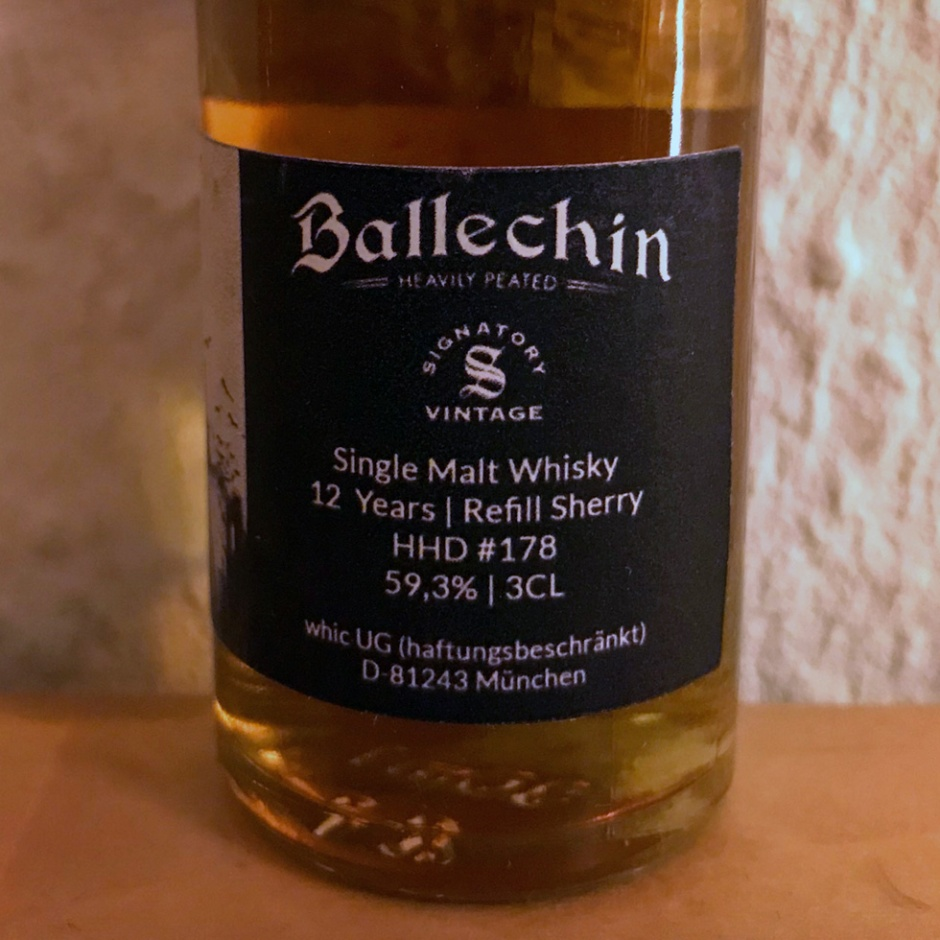 "Ballechin 12yo ""War of the Peat"" by Whic (Single Malt Scotch Whisky Peated Highlands Edradour Notes)"