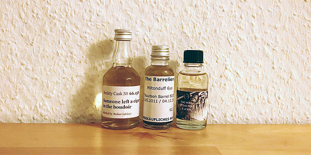 3x Single Malt Cask Scotch Whisky by The SMWS, Barrliers & Whic (Independent Release Tasting Notes BarleyMania)
