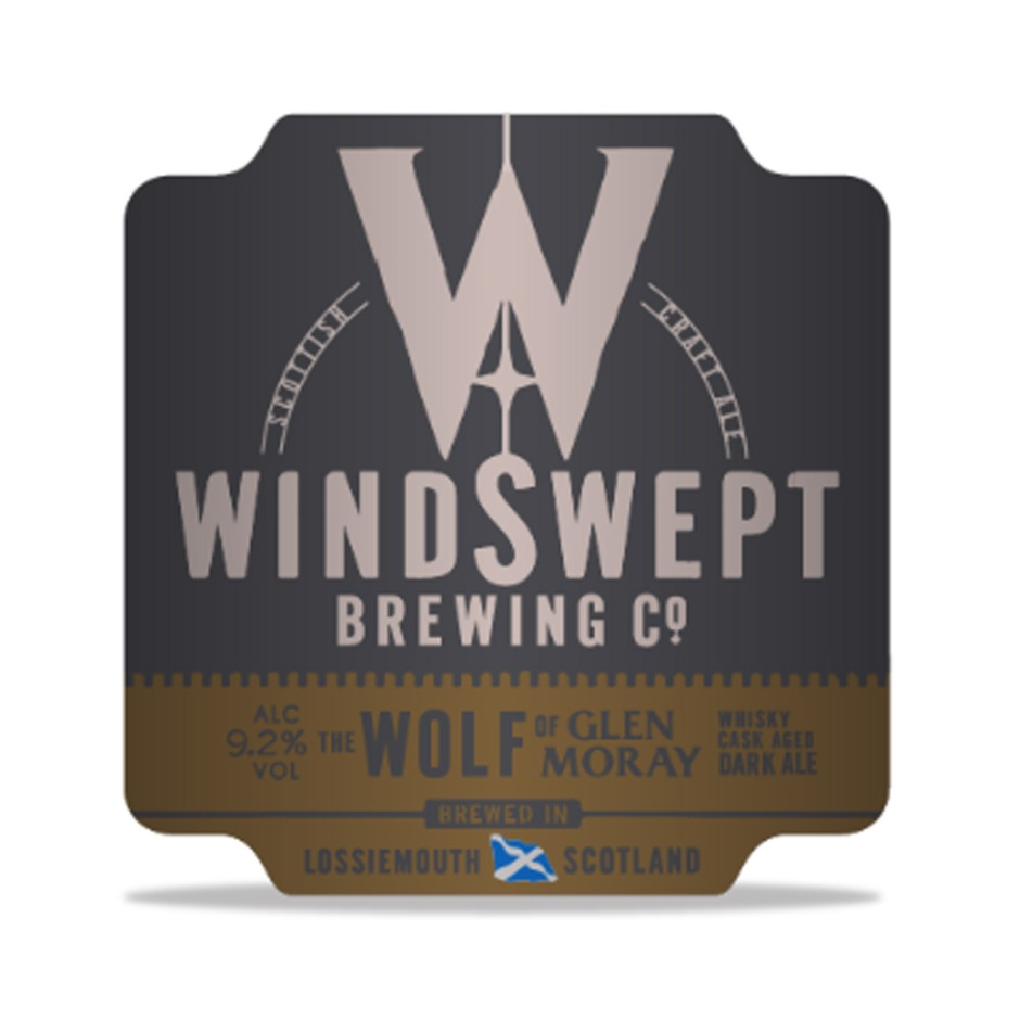 The Wolf of Glen Moray by Windswept Brewing (Barrel-aged craft beer matured in ex-bourbon whisky cask)