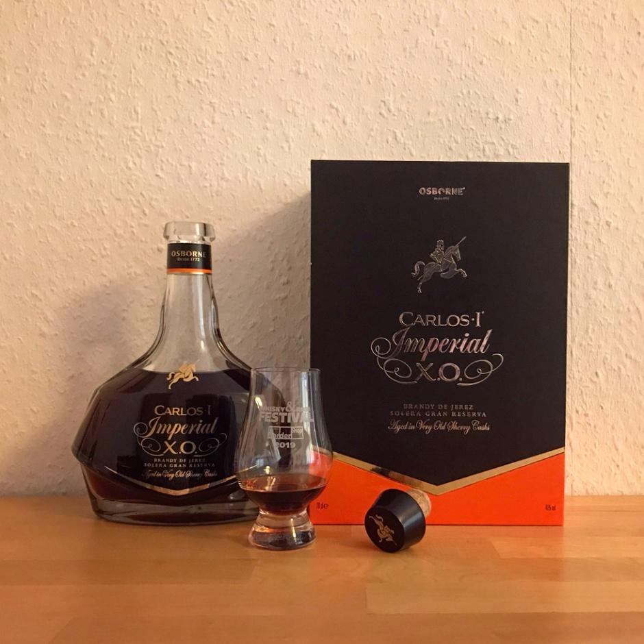Imperial XO by Carlos I Brandy (Sherry Casks Spain Spirit Tasting Notes Osborne Blog)