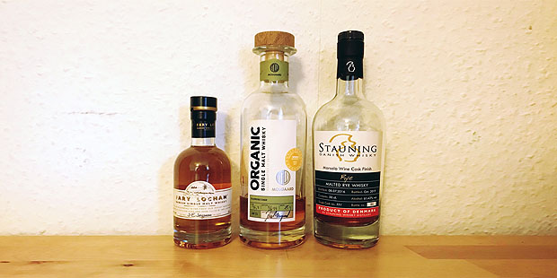 3x Single Malt Danish Whisky by Fary Lochan, Moosgard & Stauning (Denmark Organic Sherry Dram Tasting Notes Blog)