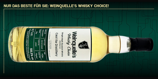 Weinquelle Lühmann announces Caol Ila 10yo as first bottling in Weinquelle's Whisky Choice (Single Cask Malt Scotch Islay News)