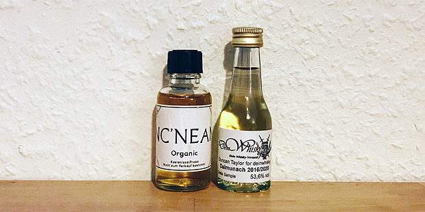 2x Single Malt Scotch Whisky from a Young Distillery (Nc'Nean NcNean Organic Dalmunach Highlands Speyside Tasting Notes Blog BarleyMania)