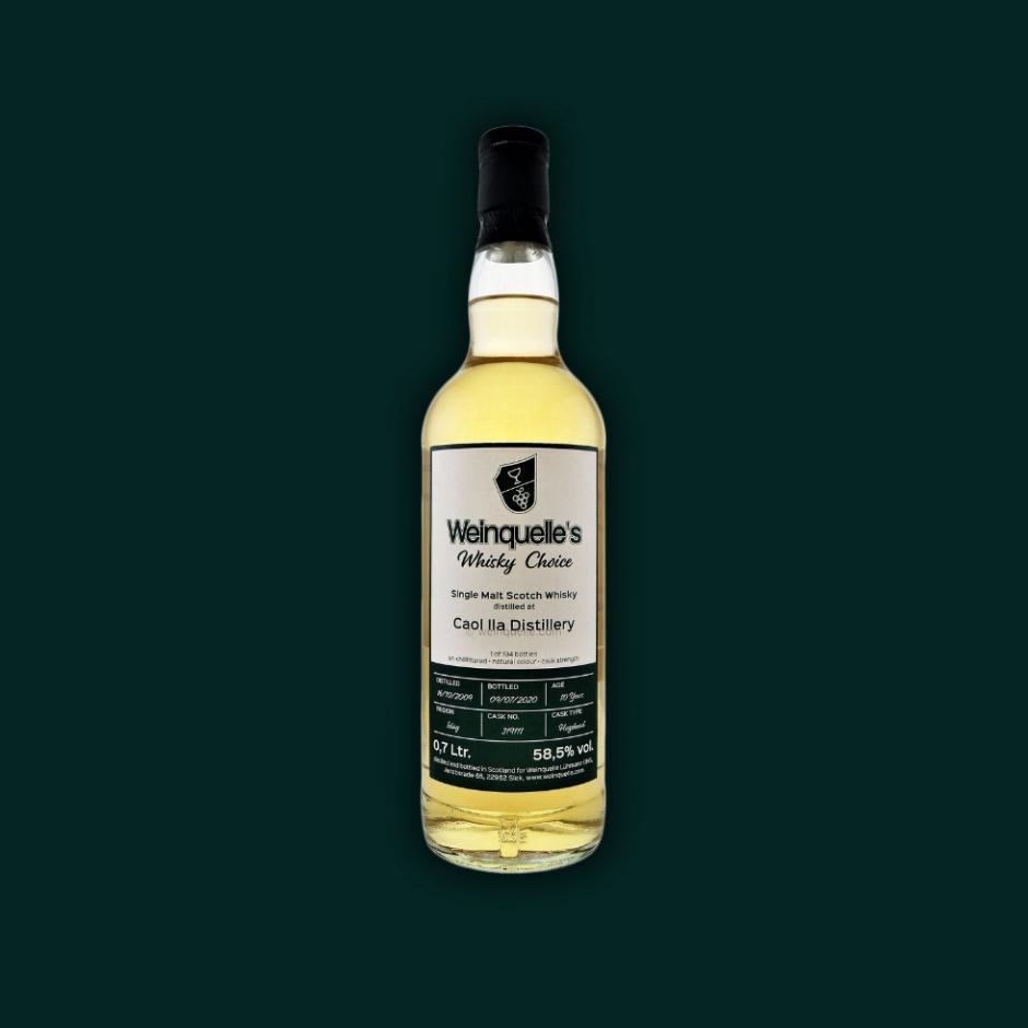 Caol Ila 10yo by Weinquelle's Whisky Choice (Single Malt Scotch Islay Whisky Peated Tasting Notes BarleyMania Blog)