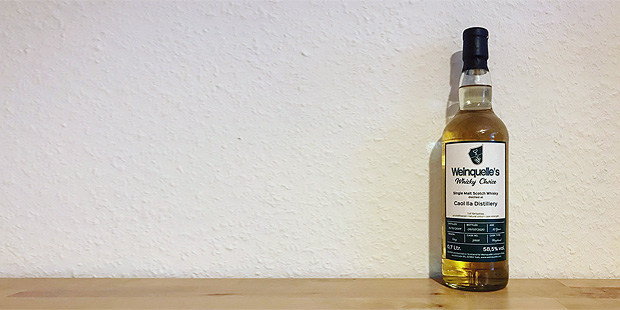 Caol Ila 10yo by Weinquelle's Whisky Choice (Single Malt Scotch Islay Whisky Peated Tasting Notes BarleyMania Blog)