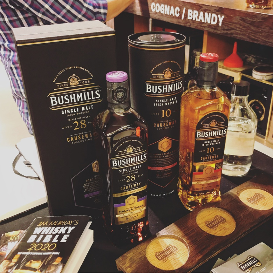 Bushmills Irish Whiskey Open Tasting at Alsterhaus in Hamburg (10yo Cognac Cask 28yo Malaga Causeway Collection)