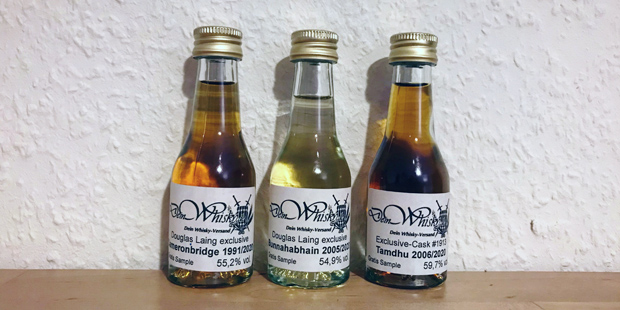 3x Scotch Whisky by DeinWhisky.de (Single Malt Grain Douglas Laing Cameronbridge Bunnahabhain Islay Tamdhu Tasting Notes Blog)
