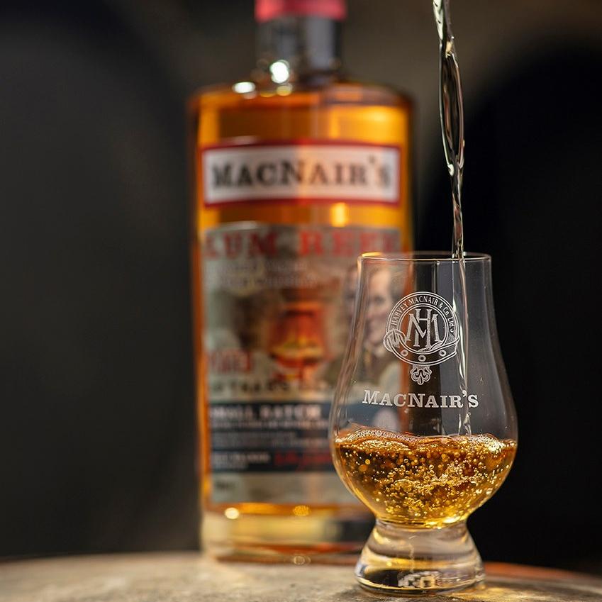 3x MacNair's Lum Reek Peated Single Malt Scotch Whisky (The GlenAllachie Blog Tasting Notes BarleyMania)