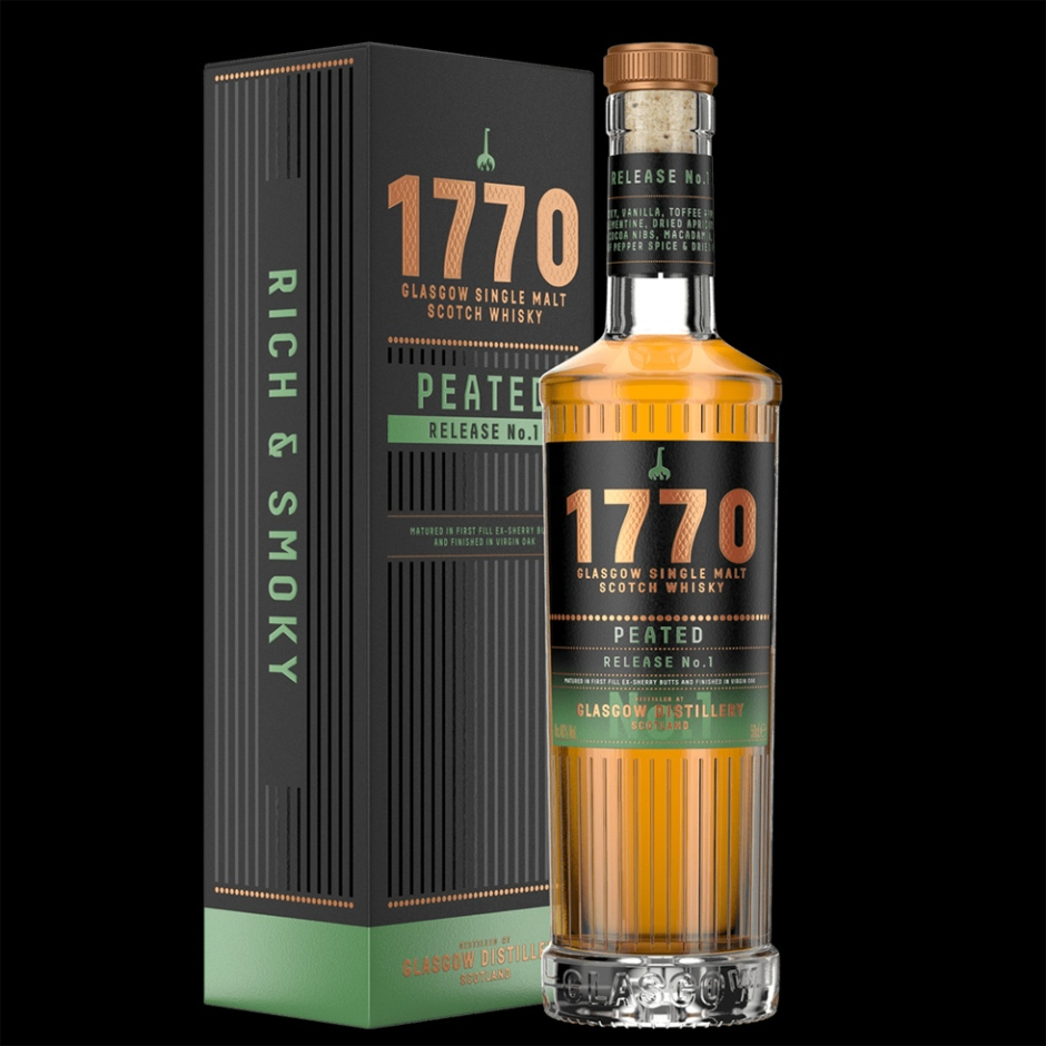 Glasgow 1770 Whisky Peated Release No. 1 (Single Malt Scotch Whisky Lowlands Tasting Notes Blog BarleyMania)