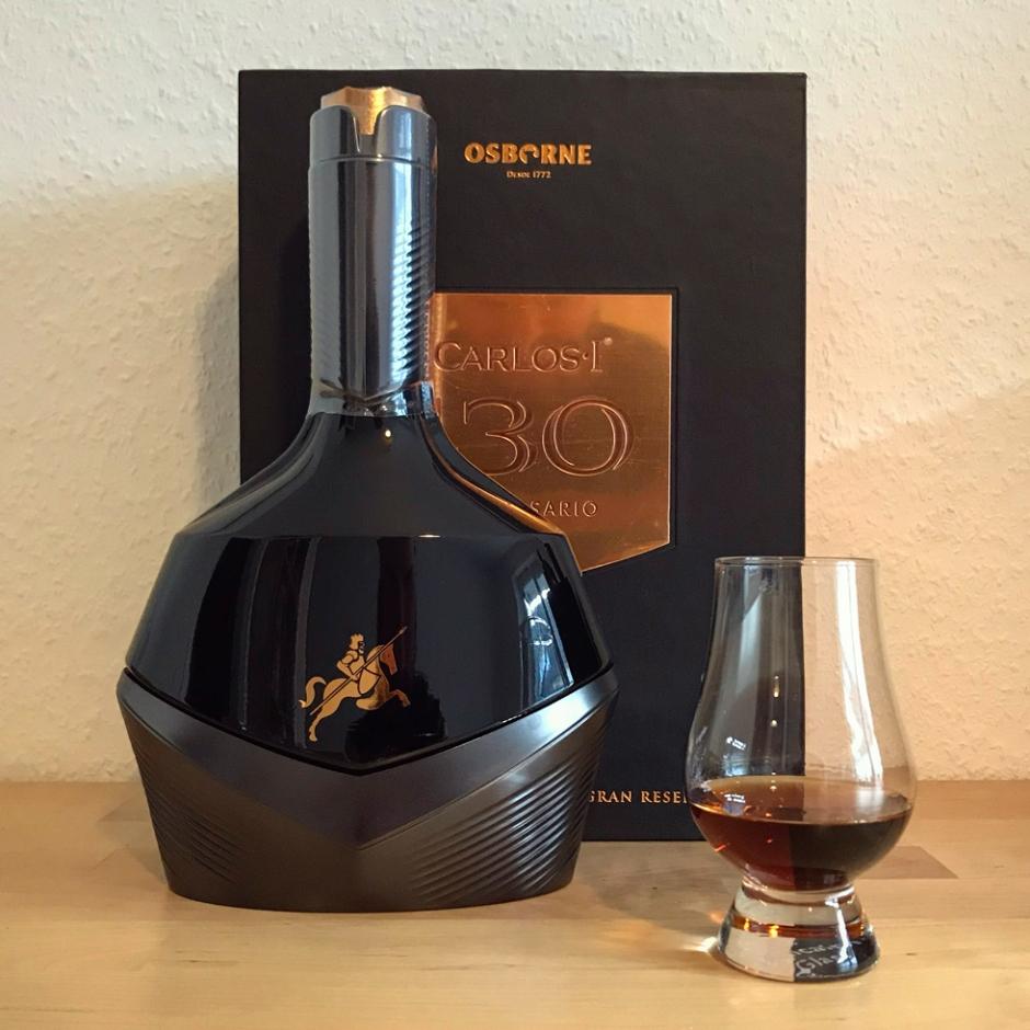 Carlos I 130 Aniversario (Brandy de Jerez Sherry Cask Premium Luxury Tasting Notes BarleyMania Grupo Osborne)